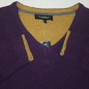 100% Wool Long Sleeve V Neck Sweater